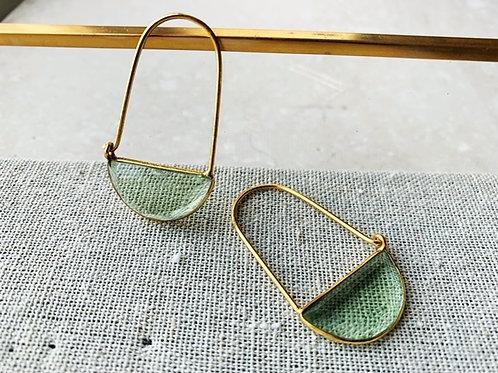 Macke Mini Earrings Soft Green Hydro