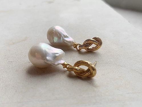 Synthea Baroque Pearl Drop Earrings