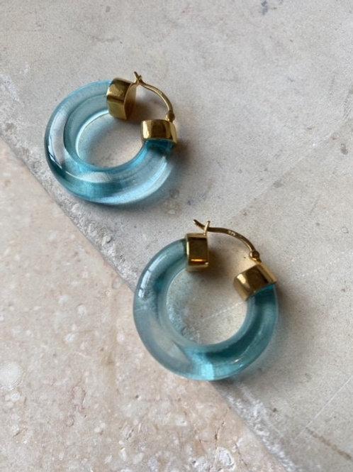 Aura Hoops Turquoise