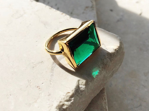 Lenny Ring Emerald Green