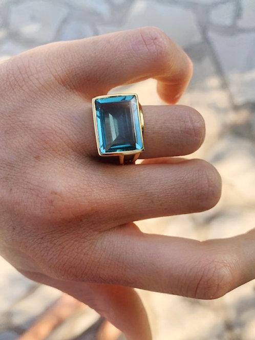 Lenny Ring Light Blue Hydro
