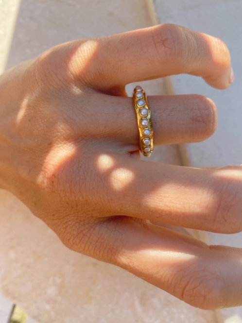 Astri Stacking Ring Small Pearl