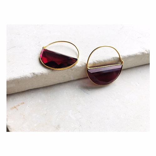 Imogen Earring Ruby Red