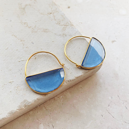 Imogen Earrings Dark Blue