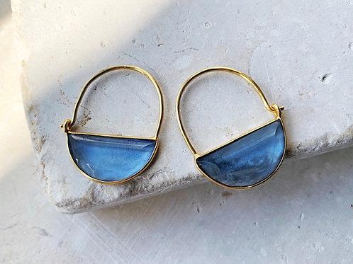 Imogen Earrings Mini Dark Blue