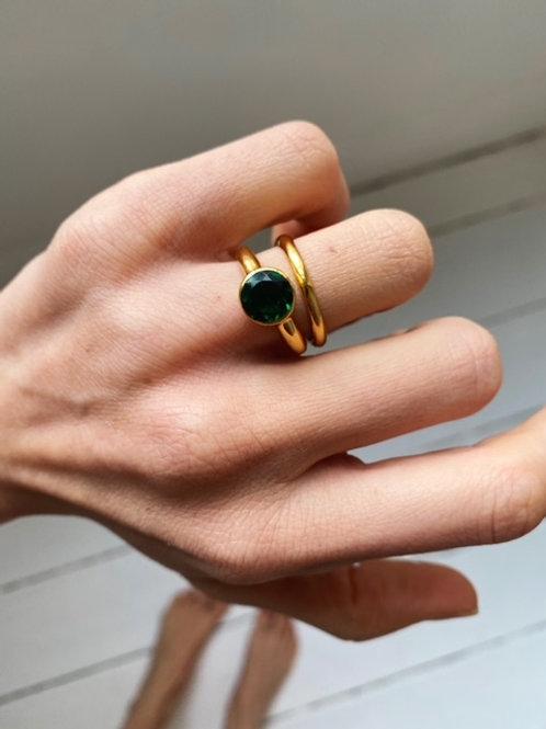 Cleo Ring Emerald Green