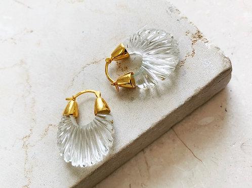Ettienne Crystal Clear Ridged Earring