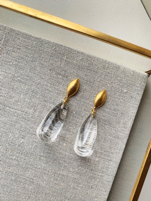 Corine Earrings Clear Hydro