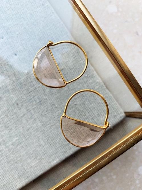 Imogen Earrings Mini Champagne