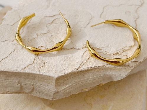Balearic Gold Hoops