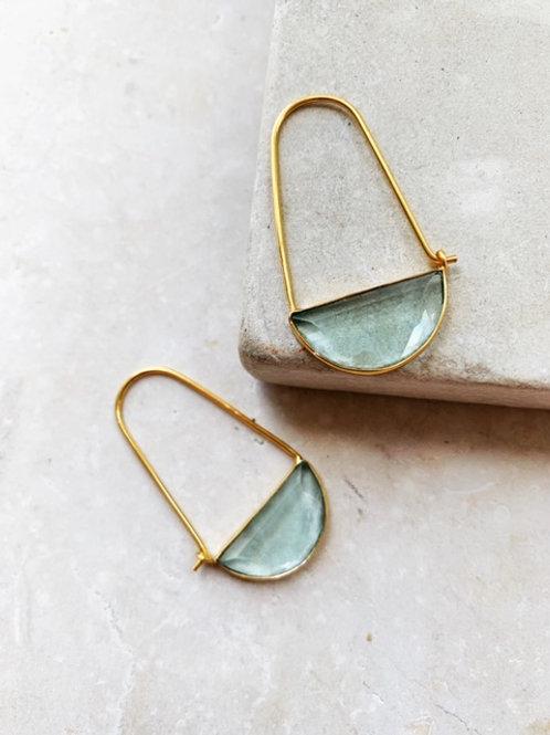 Macke Mini Earrings Soft Light Blue