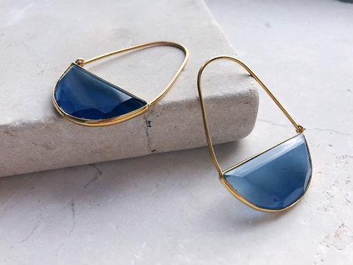 Macke Earrings Dark Blue
