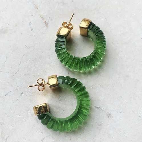 Esme Earrings Green