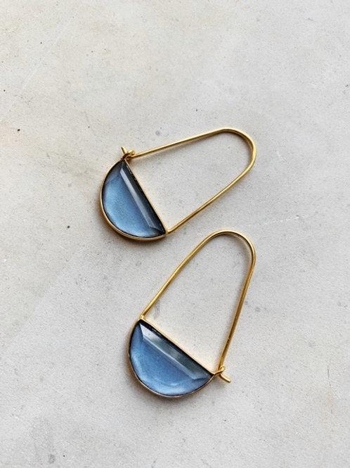 Macke Mini Earrings Dark Blue Hydro
