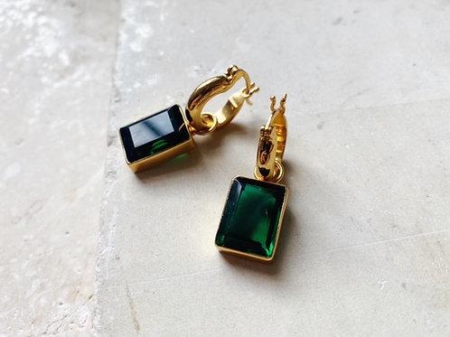 Sorrento Earrings Emerald Green