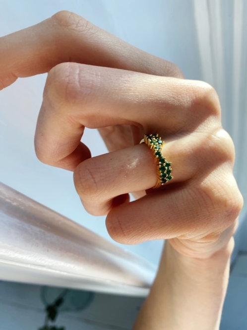 Octavia Ring Emerald Green