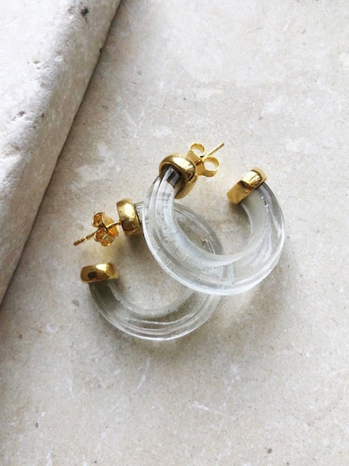 Nairobi Earrings Crystal Clear