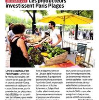 France agricole - été 2014 Marché estival Paris Plages