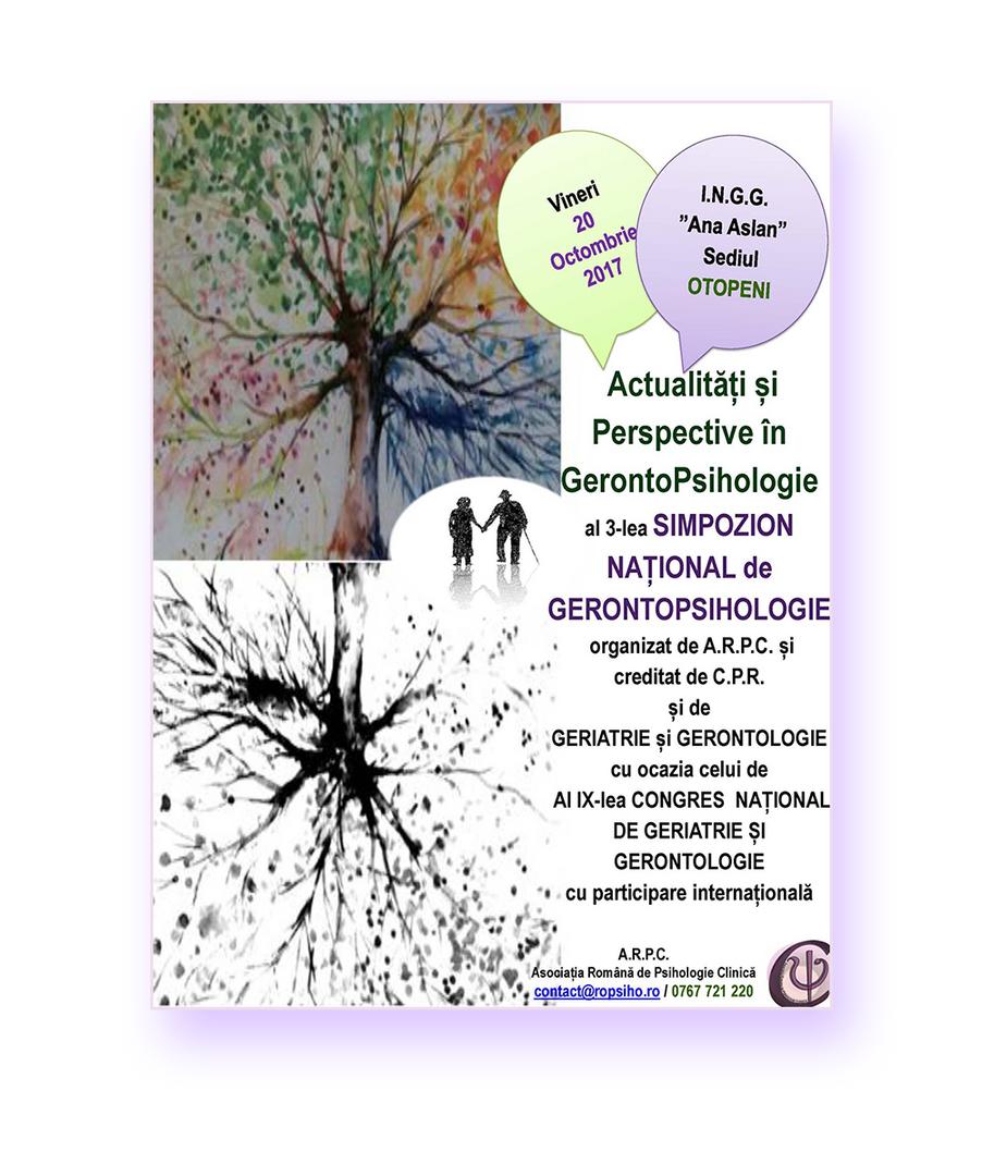 Simpozionul National de GerontoPsihologie 2017