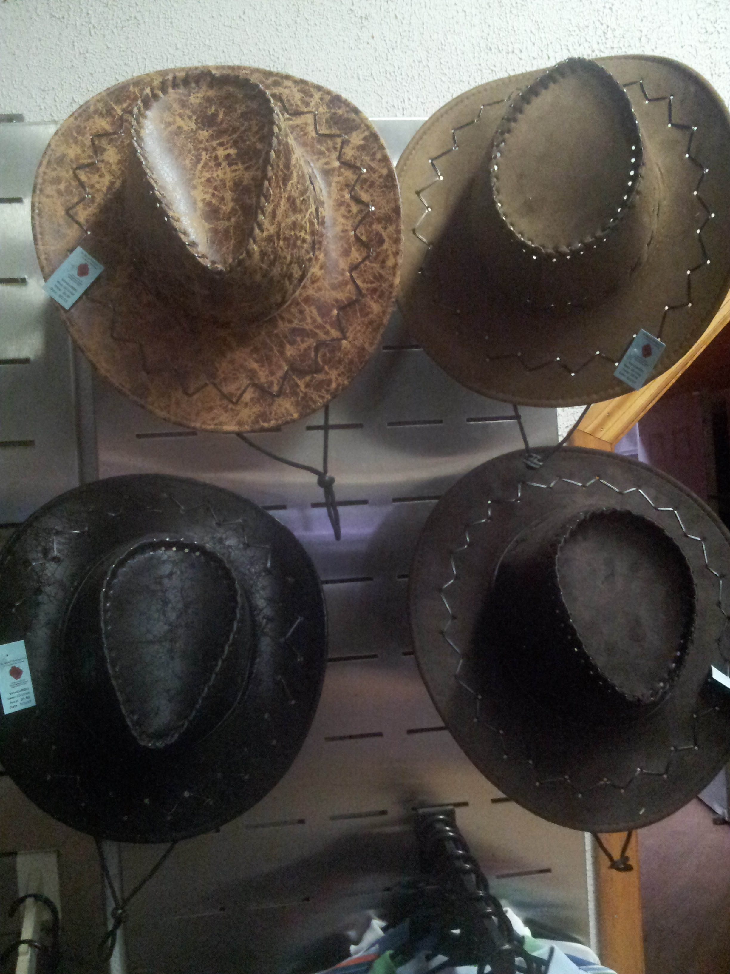 Unisex Leather/Suede Cowboy Hats