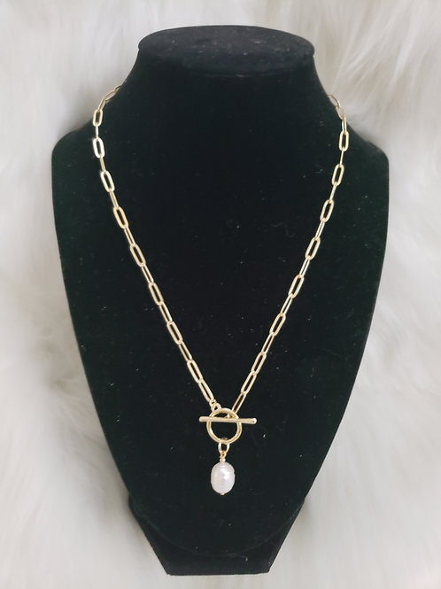 Freshwater Pearl Gold Necklace 20'