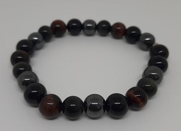 Bracelet puissant en pierres naturelles - 1er chakra