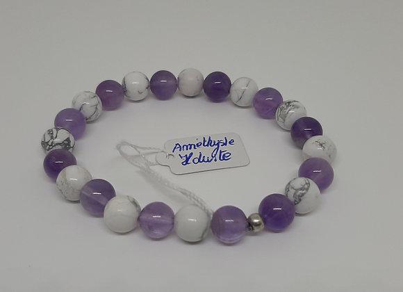 Bracelet en pierres naturelles - 7ème  chakra
