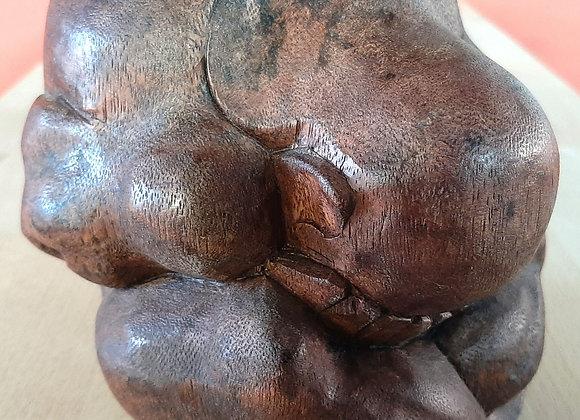 Statue Yogi qui pleure en bois