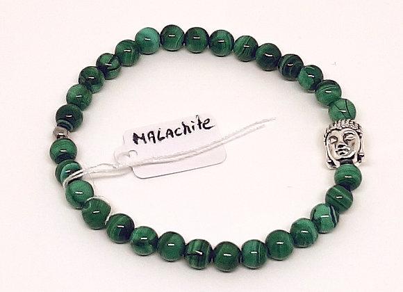 Bracelet en Malachite - Bouddha