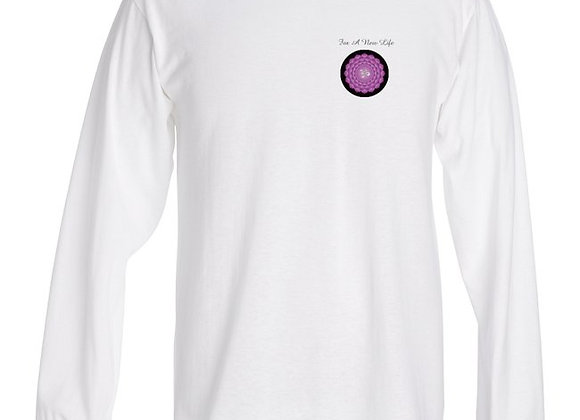 T-shirt longues manches blanc pour home - Chakra Couronne - For A New Life