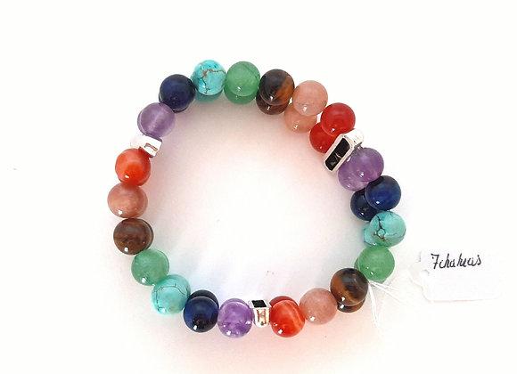 Bracelet double / 7 chakras