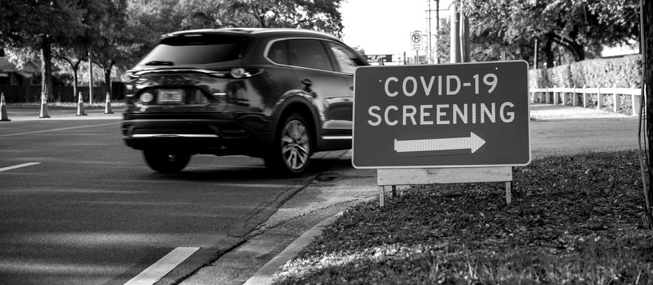 My son had to get a COVID test, the new normal.