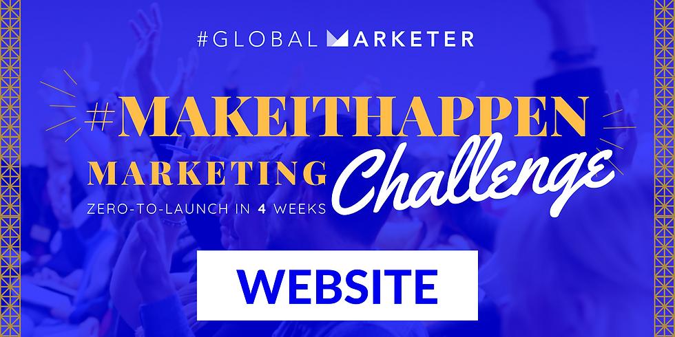 #MakeItHappen Marketing Website Challenge