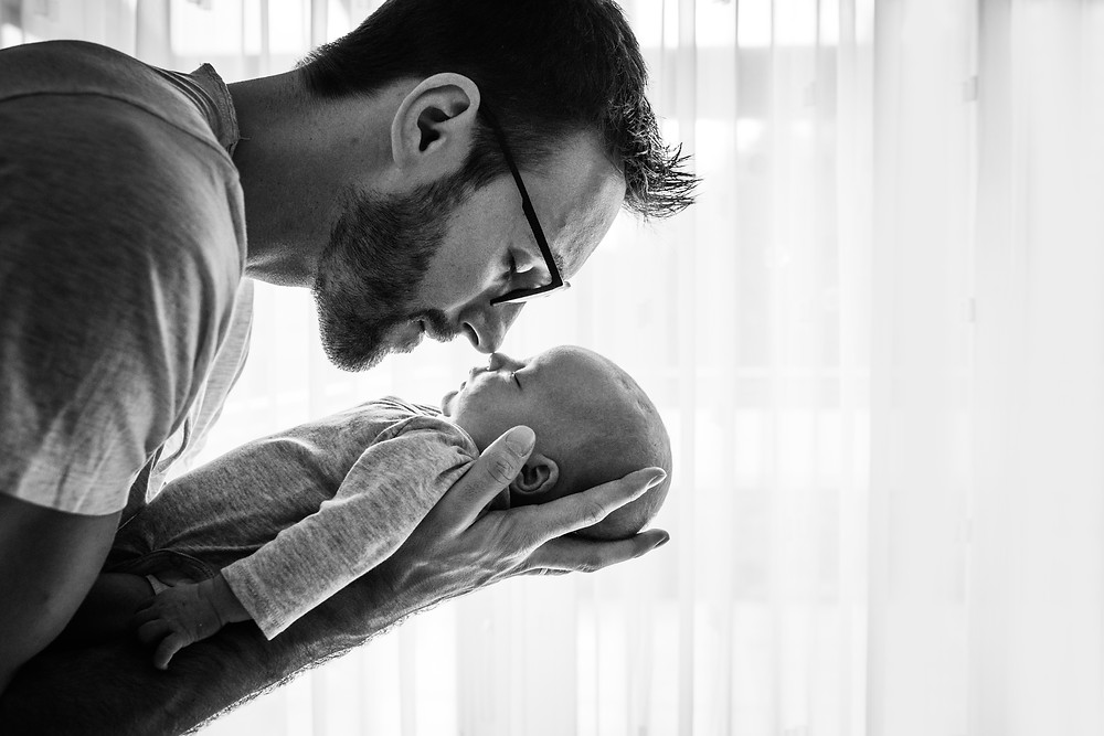 Silhouette Baby Papa Fotografin Daniela Führer