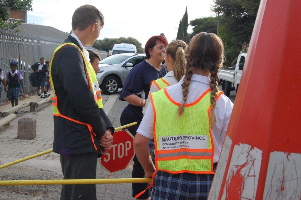 Staff on traffic duty