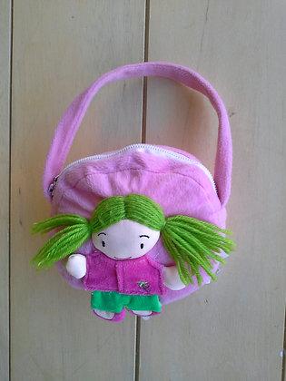 Bolsa rosa bonequinha