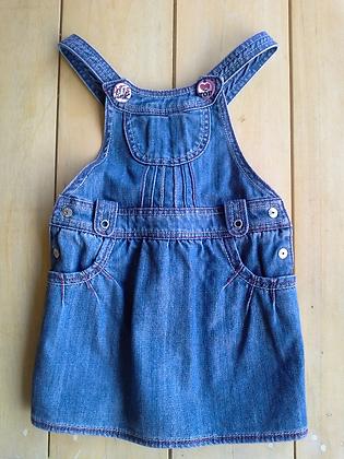 Jardineira jeans Chicco, tam. 3 anos