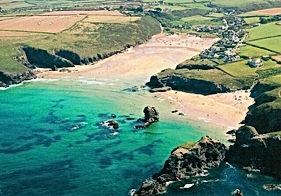 Porthcothan Bay sandy beach