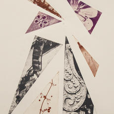 """Fragments 1"", Photopolymer intaglio, Edition of 5, 33 x 22cm, Jill McKeown"