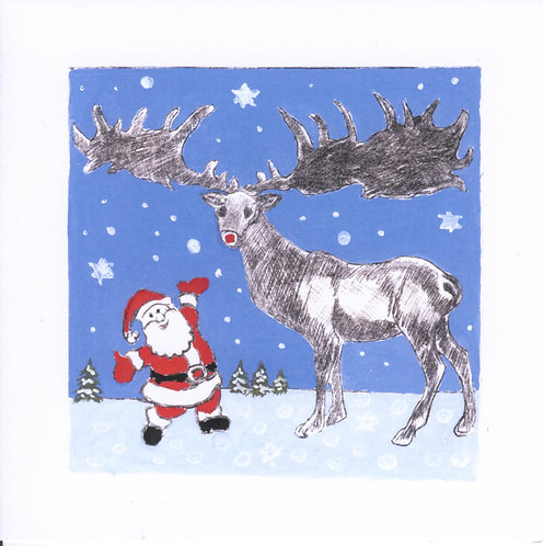 Pack of 6 Christmas Cards: Reindeer