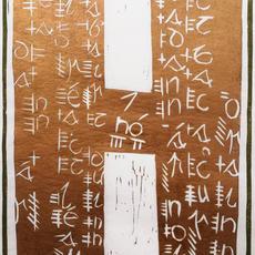 "'Heritage - Enlighten and or Stifle  2"", Linocut, 40 x 25cm,  Edition of 10, Constance Short"
