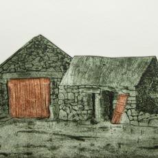"""""""The Ould Sod"""", Collagraph, Edition of 20, 19 x 35cm, Pamela de Brí"""