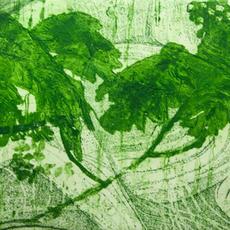"""Green Energy"", Carborundum, Ed of 10, 17 x 30cm, Katherine Smits"