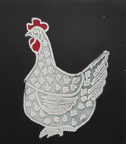 """""""Lace Hen"""", Margaret Becker"""
