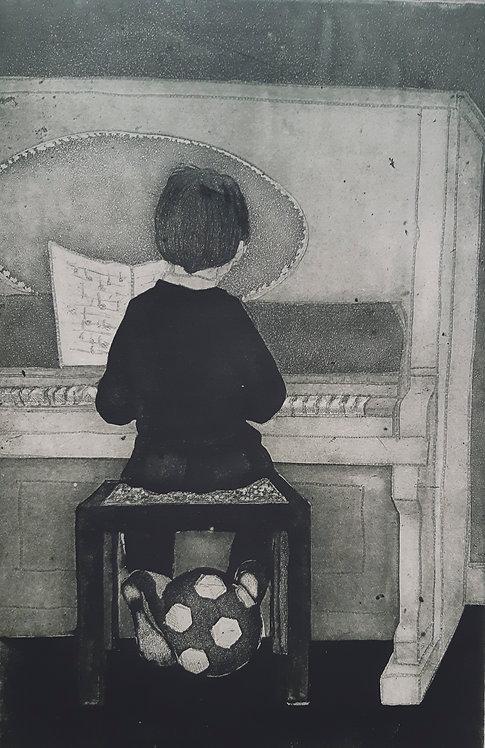 """""""Piano Practice"""", Margaret Becker"""