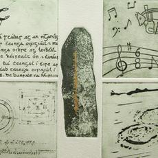 """""""Oidhreacht na nGael"""", Etchings, Edition of 20, 25 x 41cm, Pamela de Brí"""