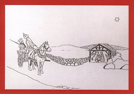 Pack of 6 Christmas Cards: Stable