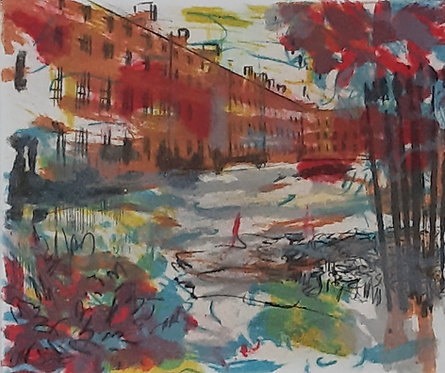 """View of Mountjoy Square"", Deirdre Shanley"