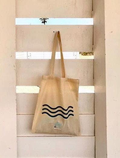 Bolsa playa 100%algodón. Fuerteventura olas