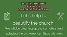 Youth of Messiah Cemetery Clean Up Service Day
